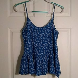 Old Navy blue tank with spaghetti straps size m